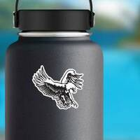Eagle Emblem Sticker on a Water Bottle example