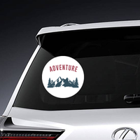 Adventure Text With Mountain Sticker
