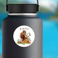 Be-You-Tiful Lion Sticker on a Water Bottle example