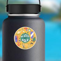Artistic Water Polo Logo Sticker