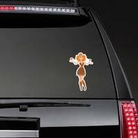 Hippie Woman in Love Sticker on a Rear Car Window example