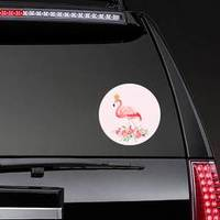 Illustration Of Beautiful Flamingo With Crown Sticker