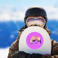 Realistic Antelope On Bright Purple Background Sticker