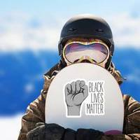 Black Lives Matter. Human Hand. Fist Raised Up Drawing Sticker example