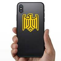 Stylized Eagle From German Coat Of Arms Sticker on a Phone example