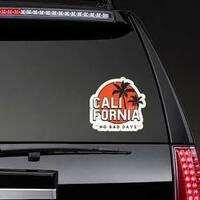 California No Bad Days Sticker on a Rear Car Window example