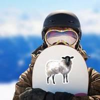 Watercolor Sheep, Hand Drawn Cute Illustration Sticker