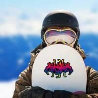 Street Dance Hip Hop Team Sticker on a Snowboard example