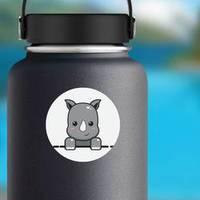 Cute Rhino Cartoon Sticker example