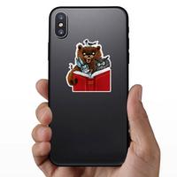 Bear, Hare, Owl, Crow And Ant Read Cartoon Illustration Stic