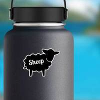 Black Contour Farm Sheep Icon Sticker