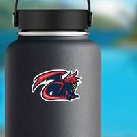 Dragon Mascot Sticker on a Water Bottle example