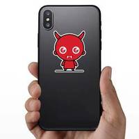 Cute Kawaii Devil In Red Sticker example