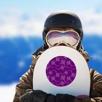 Tribal Stingray On Violet Backdrop Sticker