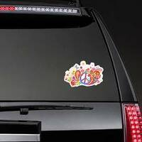 Psychedelic Paisley Hippie Sticker on a Rear Car Window example