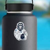 Lion Astronaut on a Water Bottle example