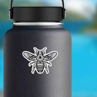 Mandala Bee Illustration Creative Boho Sticker