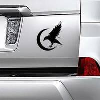 Black Crow Logo Sticker example