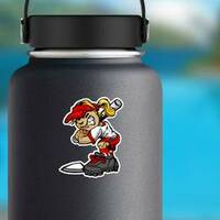 Fast Pitch Softball Girl Sticker on a Water Bottle example