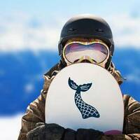 Mermaid Tail with Scales Sticker on a Snowboard example