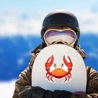 Red Crab, Sea Creature With Smile Sticker