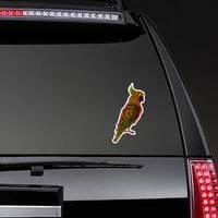 Australia Aboriginal Cockatoo Dot Painting Sticker example