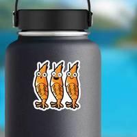 Orange Cartoon Shrimp Smile Sticker