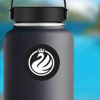 Swan Logo Minimalistic Crown Sticker example