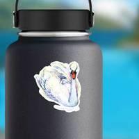 Swan Watercolor Illustration Sticker
