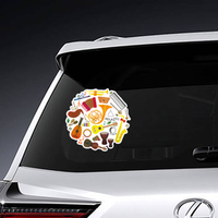 Classical Musical Instruments Circle Pattern Sticker