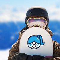 Cute Geek Gamer Girl Ponytail Sticker