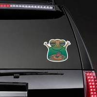 Chubby Green Toad Eats A Fly Sticker