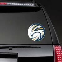 Circle Eagle Logo Sticker on a Rear Car Window example