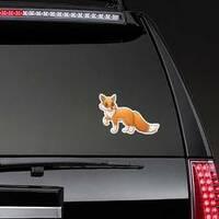 Cute Cartoon Fox Sticker on a Rear Car Window example