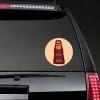 Peace Love Music Long Bearded Hippie Sticker on a Rear Car Window example