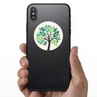 Illustration of Money Tree Sticker on a Phone example