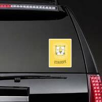 Lion Doodle Roarrr Sticker on a Rear Car Window example