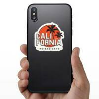 California No Bad Days Sticker on a Phone example