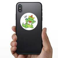 Little Baby Dragon Sticker on a Phone example