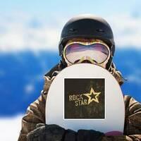 Rock Star Grunge Sticker on a Snowboard example