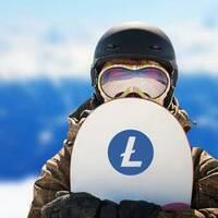 Litecoin Sticker on a Snowboard example