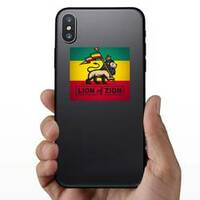 Lion of Zion Sticker on a Phone example