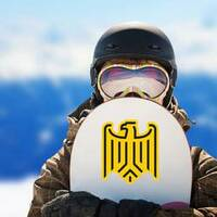 Stylized Eagle From German Coat Of Arms Sticker on a Snowboard example