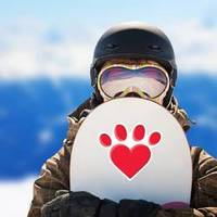 Puppy Love Heart Paw Print Sticker example