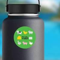 Pixel Art Farm Animals Chicken Sticker example
