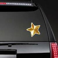 Gold Star Vector Sticker on a Rear Car Window example