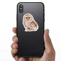 Ural Owl Photo Sticker on a Phone example