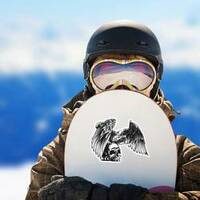 Eagle And Skull Sticker on a Snowboard example