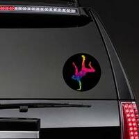 Colorful Graffiti Street Dancer On Hand Sticker on a Rear Car Window example