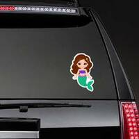Tiny Mermaid Sticker on a Rear Car Window example